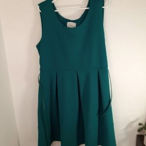 Teal beautiful dress with belt Size 2X